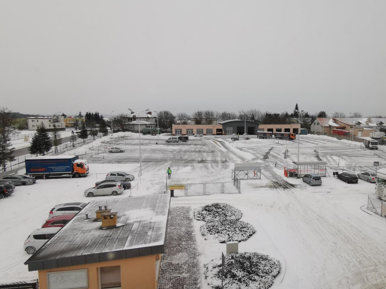 Plac manewrowy i egzaminy zimą